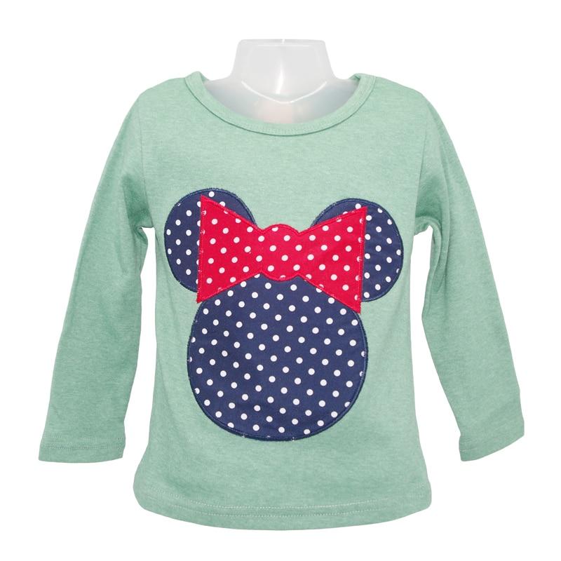 Horký výprodej Jaro a podzim s dlouhým rukávem Cartoon Myši dětské oblečení Tričko, dívčí nova Tričko dětské Autume Spring Tops & Tees