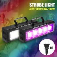 40/60/80/100W DMX512 LED Strobe Flashing Lighting Bar Disco DJ KTV Sound Activated Lamp Effect Lighting US Plug