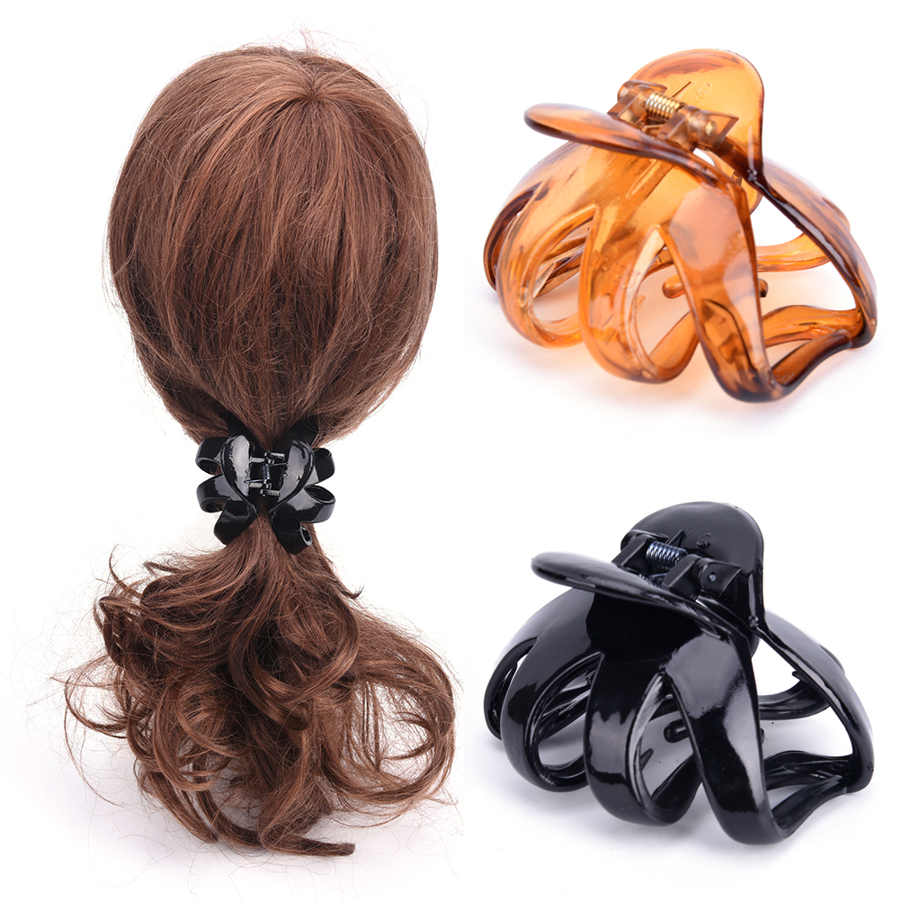 Korean Style Women Lady Hair Claw Acrylic Hair Clips Barrette Crab Clamp Hair Pins Ornaments Hair Accessories Capelli