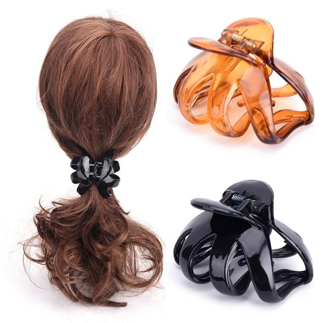 Pinza de pelo de mujer estilo coreano pinza de pelo acrílico Barrette pinza de cangrejo Horquillas para el cabello accesorios para el cabello
