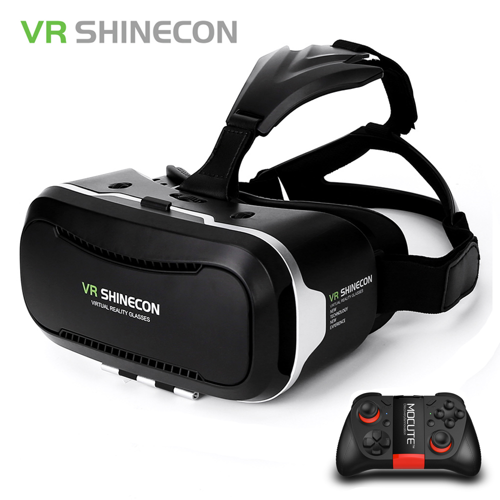 Original Shinecon VR Box 2 0 Google Cardboard Virtual Reality Smartphone Goggles Glasses Headset With Mocute