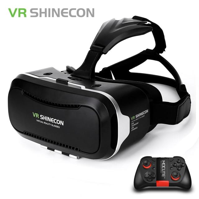 c70e6a9ee4e Original Shinecon VR Box 2.0 Google Cardboard Virtual Reality Smartphone  Goggles vr Glasses Headset With Bluetooth Gamepad
