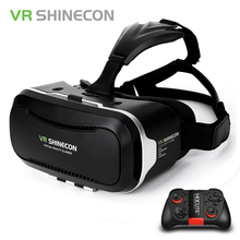 Original Shinecon VR Box  2.0 Google Cardboard Virtual Reality Smartphone Goggles vr Glasses Headset With Bluetooth Gamepad