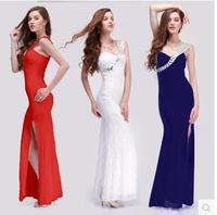 Nightclub Sexy Waist Deep V Sexy Split Spring Models Qi Bandage Gather Low Cut Costumes 5268