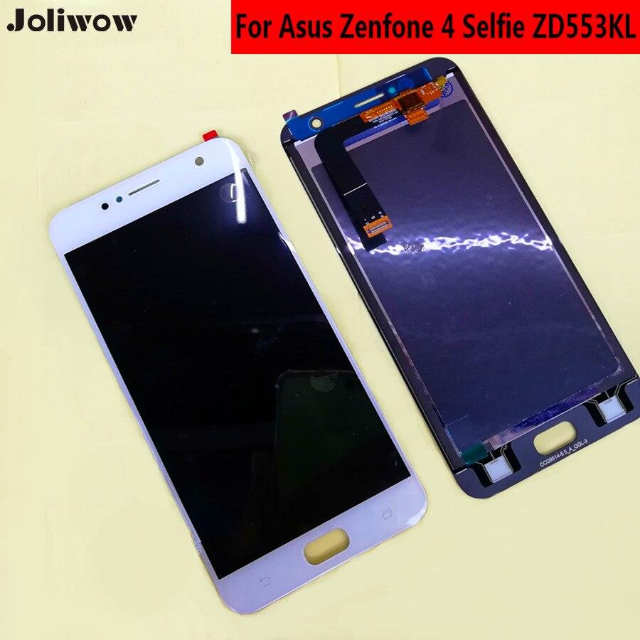 Para asus zenfone 4 selfie zd553kl tela de toque + display lcd componentes integrados digitador assembléia para zenfone 4 telefone 5.5
