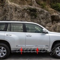 Chrome Door Body Side Trim Cover Molding FOR Toyota Prado J150 2014 2015 150 Land Cruiser Styling Accessories