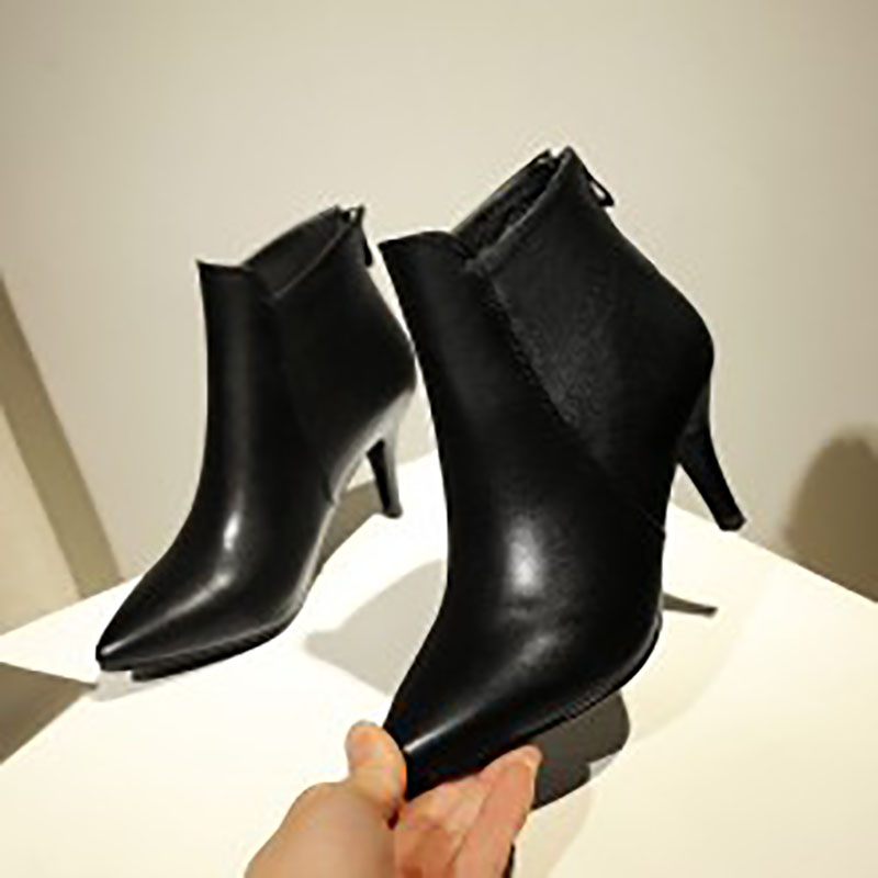 Must grab new fashion shoes tip goods 2018 spring and autumn new cowhide thin heel ankle boots1752Must grab new fashion shoes tip goods 2018 spring and autumn new cowhide thin heel ankle boots1752