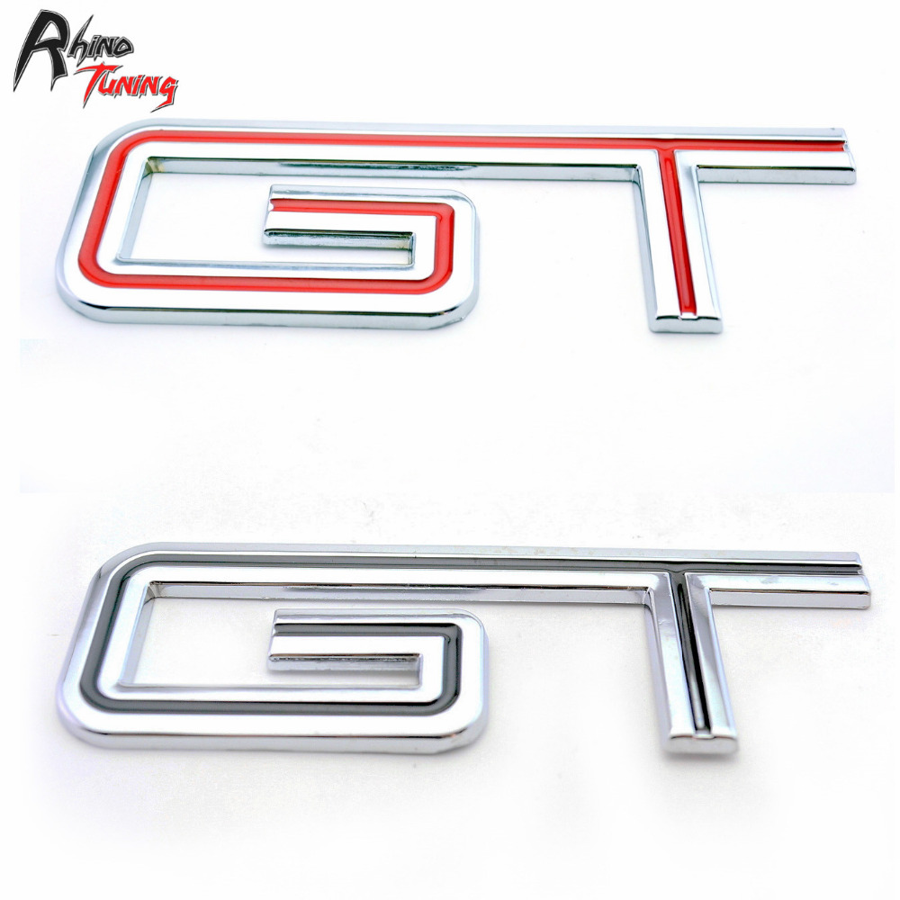 Rhino Tuning 1PC GT Letter Black Car Badge Sticker Auto Body Mrtal Emblem Decal for Expedition Super Duty 595bk auto chrome camaro letters for 1968 1969 camaro emblem badge sticker