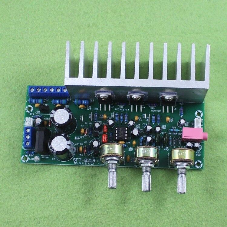 KYYSLB 60W TDA2050+TDA2030 Three 2.1 Channel Super Bass Amplifier Board Subwoofer Board (C5A1)