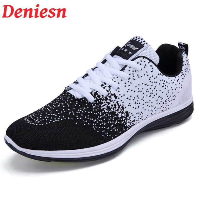 Hot Sales Men Casual Shoes 2017 Unisex Style Breathable Mesh Top Fashion Flat