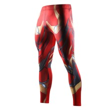 2018 Avengers 3 Infinity War iron Man Printed Compression Tights Pants Men Sweatpants Fitness Skinny Leggings Trousers Male(China)