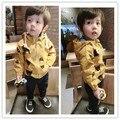 Niños clothing niños bebés otoño primavera 2016 niños nueva cazadora chaqueta masculina bebés durante el traje de primavera y otoño