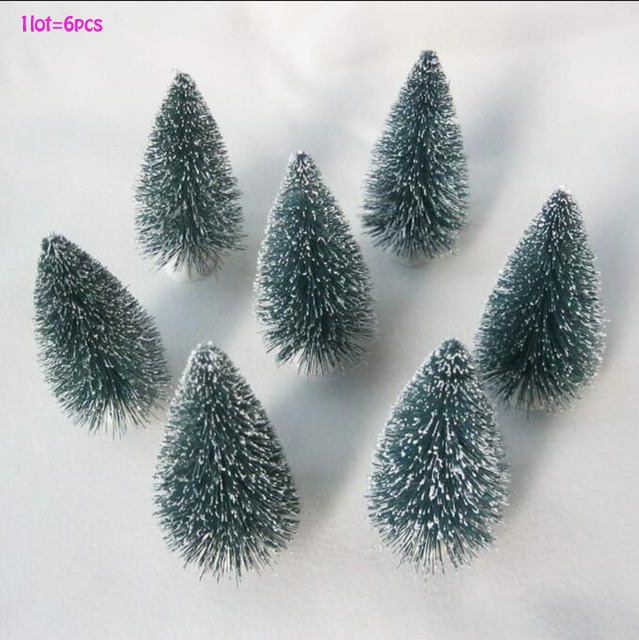 6 pc mini christmas tree christmas decoration xmas small pine tree in desktopmini