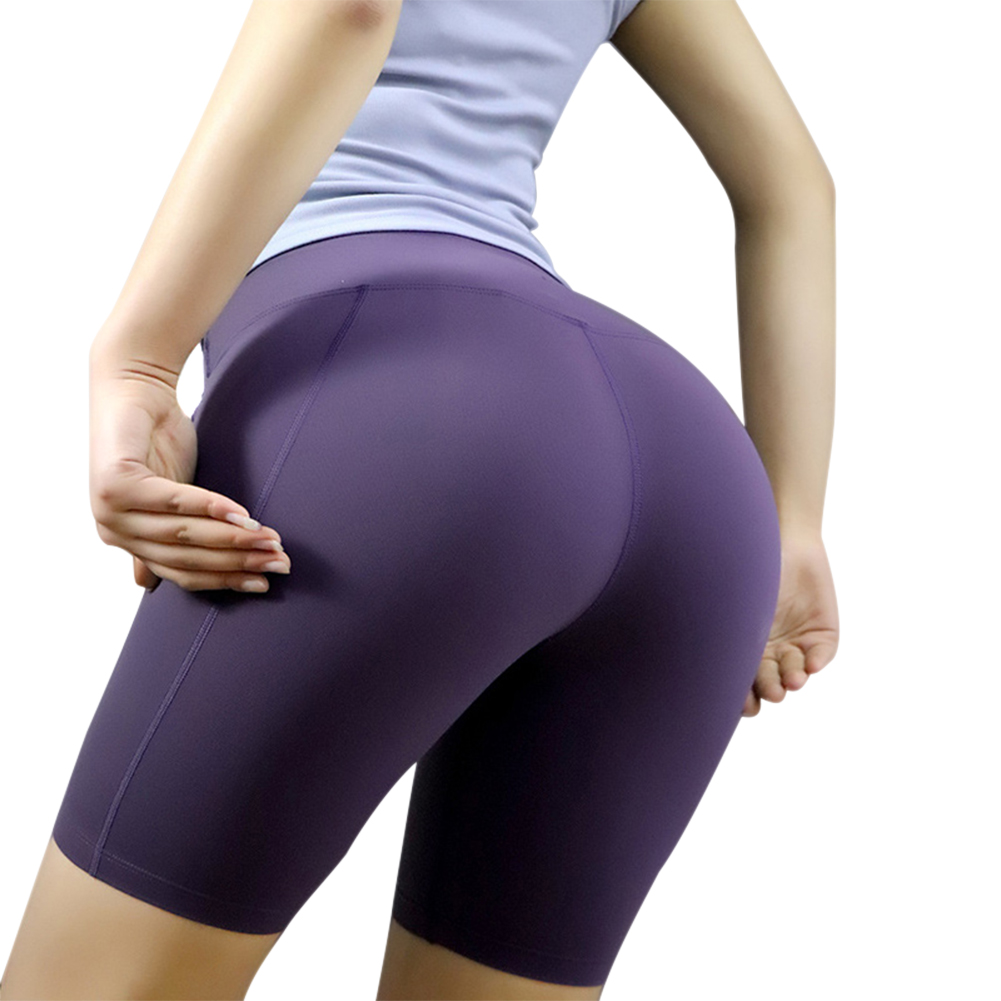 New Women Sports Yoga Shorts Push Up Stretchy Breathable Slim For Fitness Running LMH66