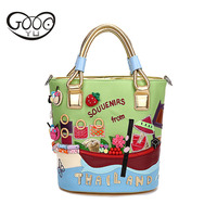 New Italian Craft Handbag Hand Messenger Bag Hand Embroidery Package Creative Korean Variety Of Color Boutique