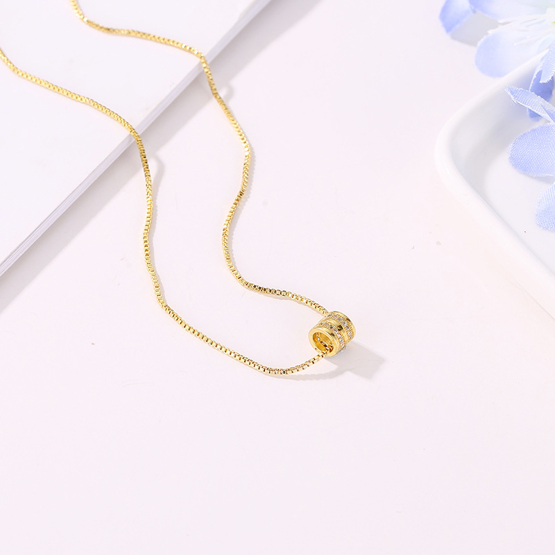 Jewelry Vintage Steampunk Fashion Simple Copper Heart Multi Layer Clavicle Necklace Wholesale Necklace Women in Pendant Necklaces from Jewelry Accessories