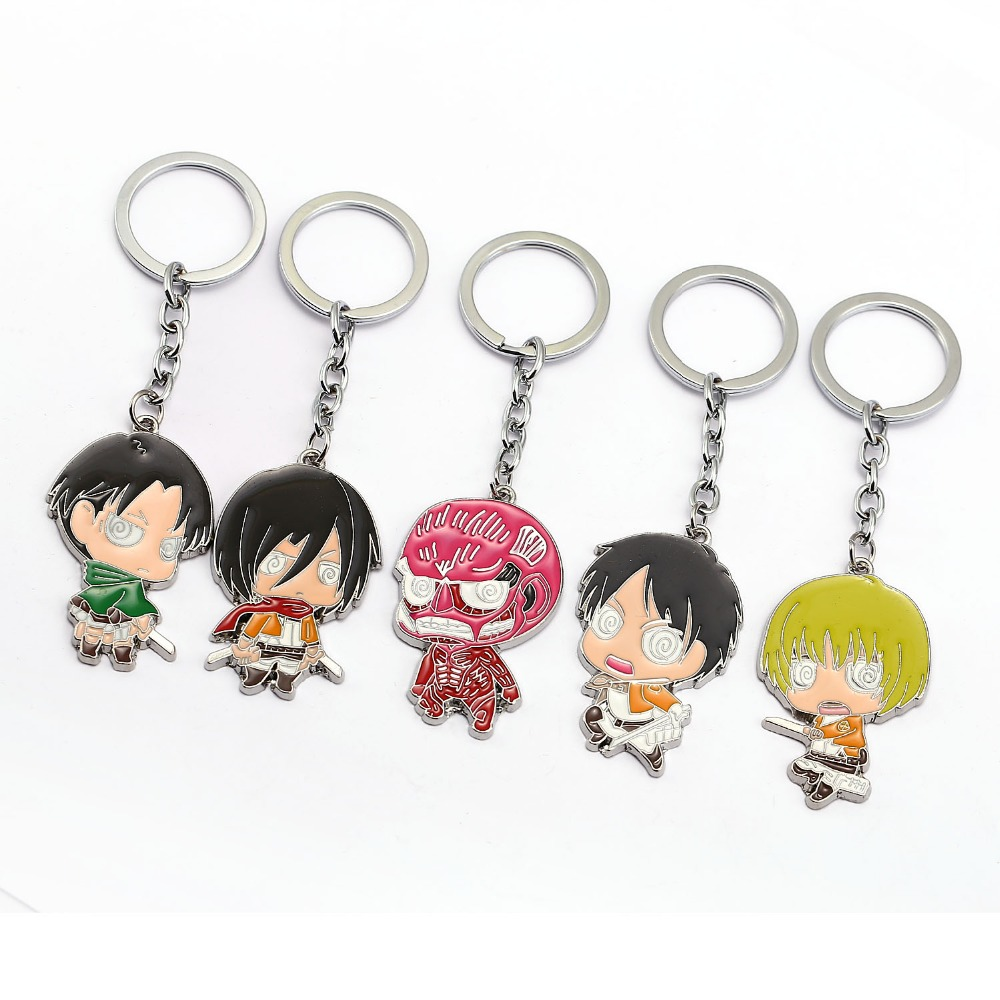 HSIC Anime Attack on Titan Character Keychains Metal ...