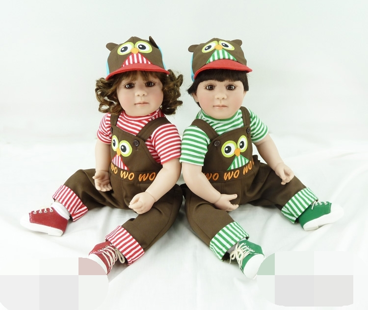 Pursue 24/60 cm Hot Handmade Adora Reborn Toddler Girl and Boy for Sale Silicone Reborn Baby Girl Boy Twins Doll Christmas Gift pursue 24 60 cm handmade crochet sweater hat vinyl silicone reborn toddler prince baby girl boy doll toys for children girl boy