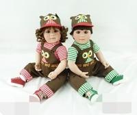 Pursue 24/60 cm Hot Handmade Adora Reborn Toddler Girl and Boy for Sale Silicone Reborn Baby Girl Boy Twins Doll Christmas Gift