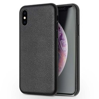 QIALINO Original Brand For iphone XR XS XS MAX Mobile Phone Case Calfskin Genuine Leather Luxury Bag Flip Phone Case JS0269