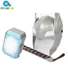 Детский косплей Мстители 2 Тор светодиодный светильник светящийся звуковой шлем маска оружие молоток quake модель игрушки подарки