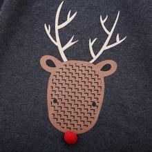 Unisex Reindeer Cotton Christmas Rompers