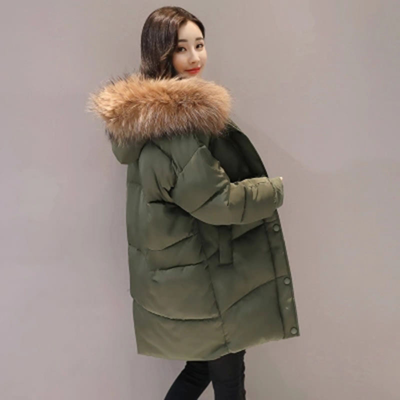 YAGENZ 2017 cotton clothing women loose Korean version of the long section of thickening bread clothing autumn and winter jacket 2017 winter in the long section of the cotton men korean version of the loose hong wind thickening of large yards of clothing