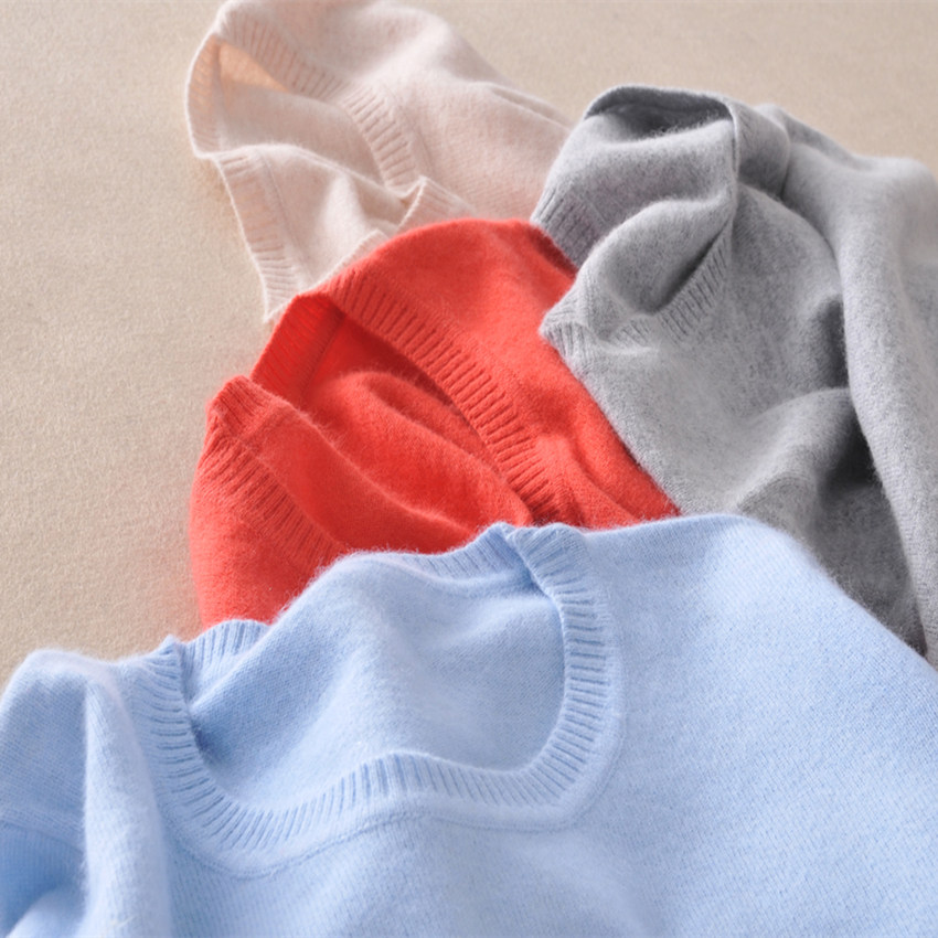 2016 Cashmere Wool Sweater Women Sweaters And Pullovers Women Fashion O Neck Sweater Solid Color Long