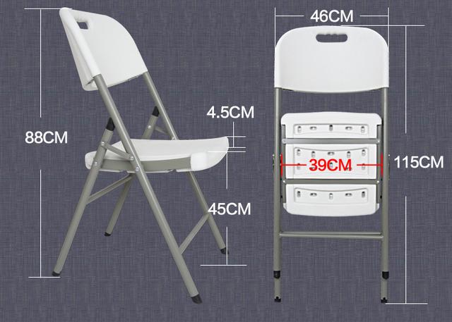 45*39 CM Alta qualidade PEAD Ecológico Portátil Dobrável Cadeira de Escritório Cadeiras de Praia Ao Ar Livre