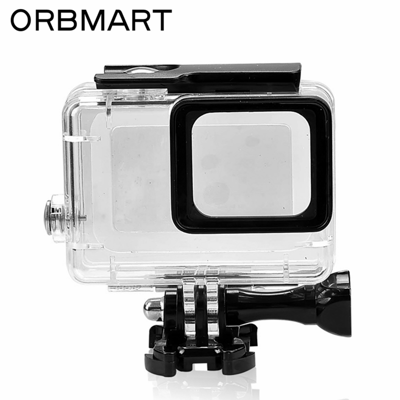 ORBMART 45M Waterproof Case Cover Housing For Go Pro Gopro Hero 5 6 Sport Camera With Black Edition