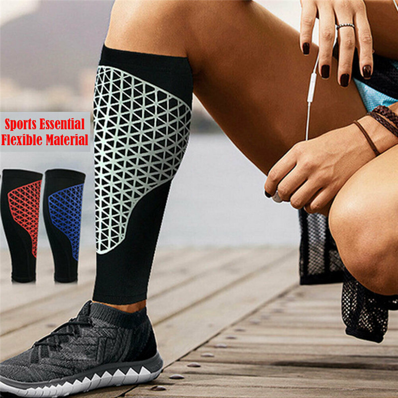 Single Outdoor Sport Leg Calf Support Stretch Sleeve Graduate Compression Knee Protection Knee Sleeve