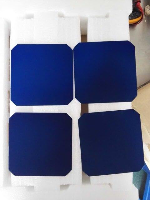 10 pcs x sunpower célula solar 21.8% de alta eficiência 3.34 w 125x125 monocristalino para avião solar impulse c60