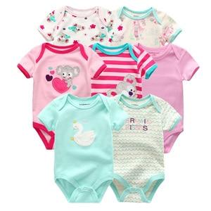 Image 4 - 2019 Baby Boy Clothes Newborn Unicorn Baby Girl Clothes Bodysuits Jumpsuit Clothing Sets Ropa be 0 12M Short Sleeve 7PCS/lot