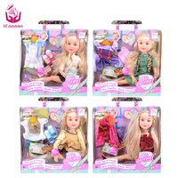 2 Suit Outfit Fashion Sweet Girl Doll Toys 18 45cm Princess Dolls Joint Body Christmas Birthday