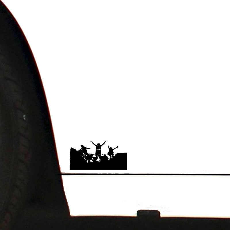 QYPF 16.1*8.2 ที่น่าสนใจ Breakdance Parkour ตกแต่งสติกเกอร์รถไวนิล Silhouette อุปกรณ์เสริมกันชนหน้าต่าง C16-2260