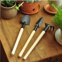 3 pcs / set! hand tools gardening kit ferramentas bonsai  Iron shovel rake shovel ripper  garden digging tools