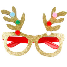 Fashion Christmas Decoration Glasses Children Gifts Holiday Supplies Paper LED Party Creative