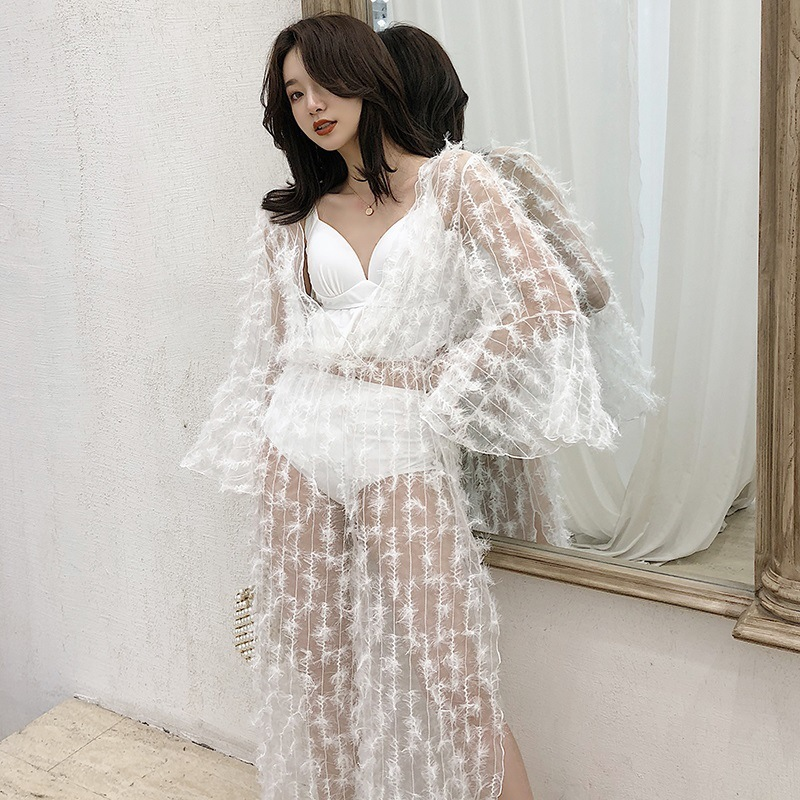 Bikinis 2019 femme Bikini ensemble maillot de bain maillot de bain pour filles maillot de bain femmes coréenne Mini Push Up taille haute couverture blanc solide