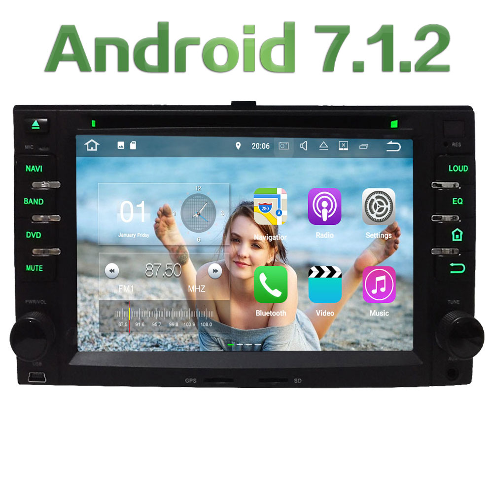 3G 4G WIFI Android 7 1 2 2GB RAM DAB Car DVD Multimedia Player Radio For
