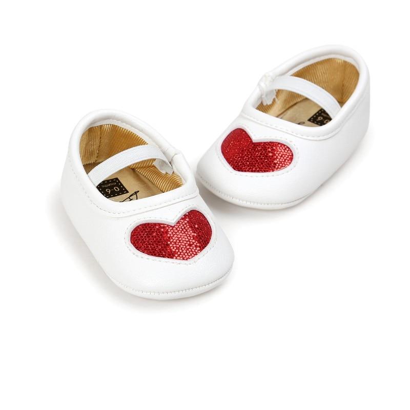 Детские Обувь для девочек Демисезонный Prewalker Новая любовь PU мягкая подошва для маленькой принцессы Обувь ...