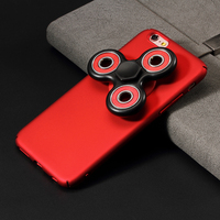 Phone Cover Luxury Bag Coques For IPhone 7 Detachable Tri Fidget Spinner Matte PC Back Case