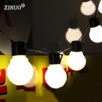 ZINUO 5CM Big Ball LED String Light Christmas 2 5M 5M 10M Fairy String Garland Starry