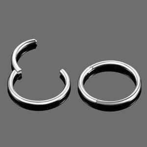 Image 5 - 50 יח\חבילה G23 טיטניום פירסינג קטע צירים טבעות Daith סחוס עגילי Helix פירסינג צריח עגילי גוף תכשיטים