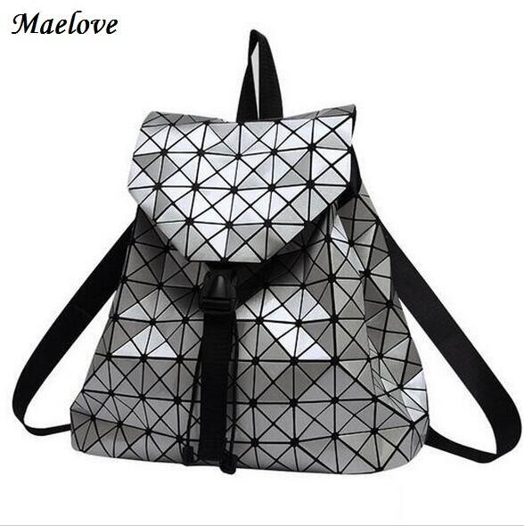 Maelove 새로운 패션 2019 여성 배낭 기하학 홀로그램 가방 배낭 학생의 학교 가방 기하학 Lattic 가방