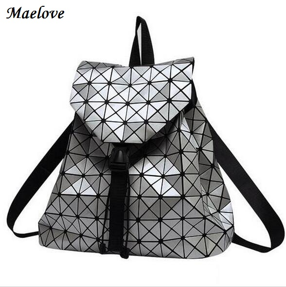 New Fashion 2017 Women Bag Backpack Geometric Hologram Bag Backpack Student S School Bag Brand Baobao
