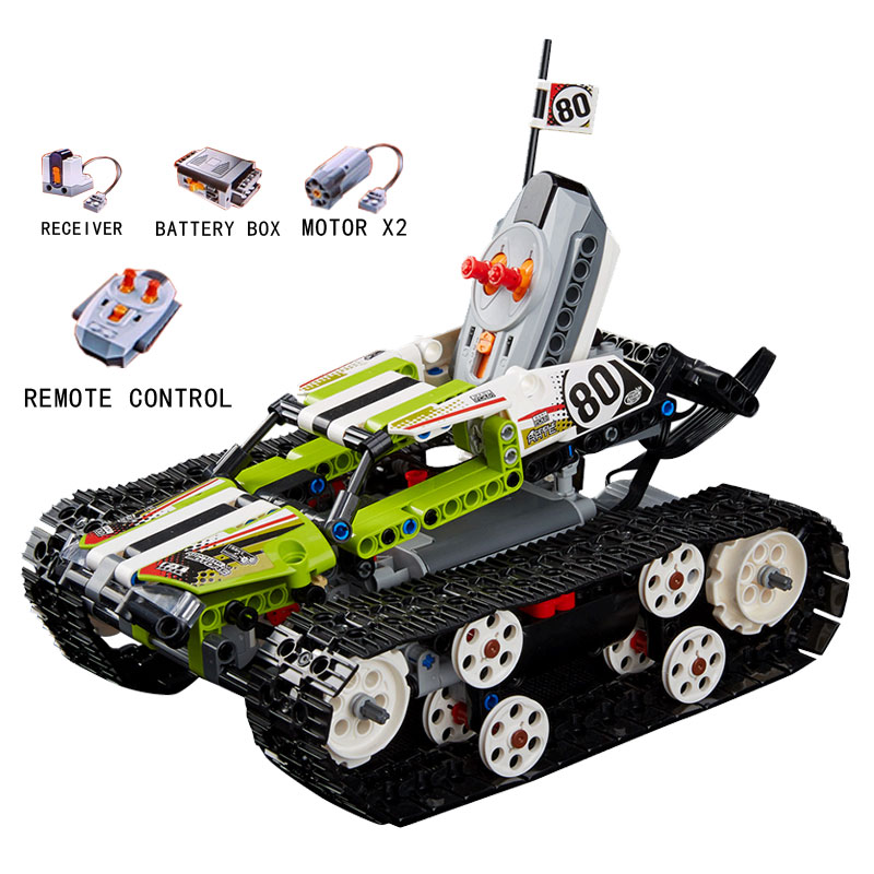 20033 Technic The RC Track Remote-control Racer 397PCS Model building kits Building Blocks compatible with lego brick 42065