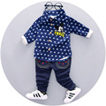 Children shirt suit children's clothing handsome baby boy shirts+jeans autumn new baby cotton suit children's clothing set