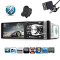 1 DIN Car Multimedia Player with 4.1 inch HD Digital Touch Screen Bluetooth FM Radio MP3 MP4 Player Reverse Image SD USB Charger