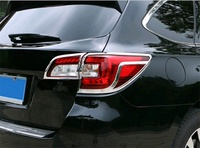 Abaiwai Car Styling For Subaru Outback 2014 2015 2016 2017 ABS Chrome Rear Tail Lamp Light Cover Trims cap Accessories Molding