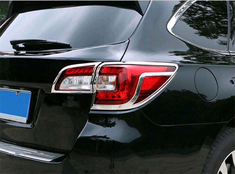 Abaiwai style de voiture pour Subaru Outback 2014 2015 2016 2017 ABS Chrome arrière feux arrière capots de bordure cap accessoires moulage